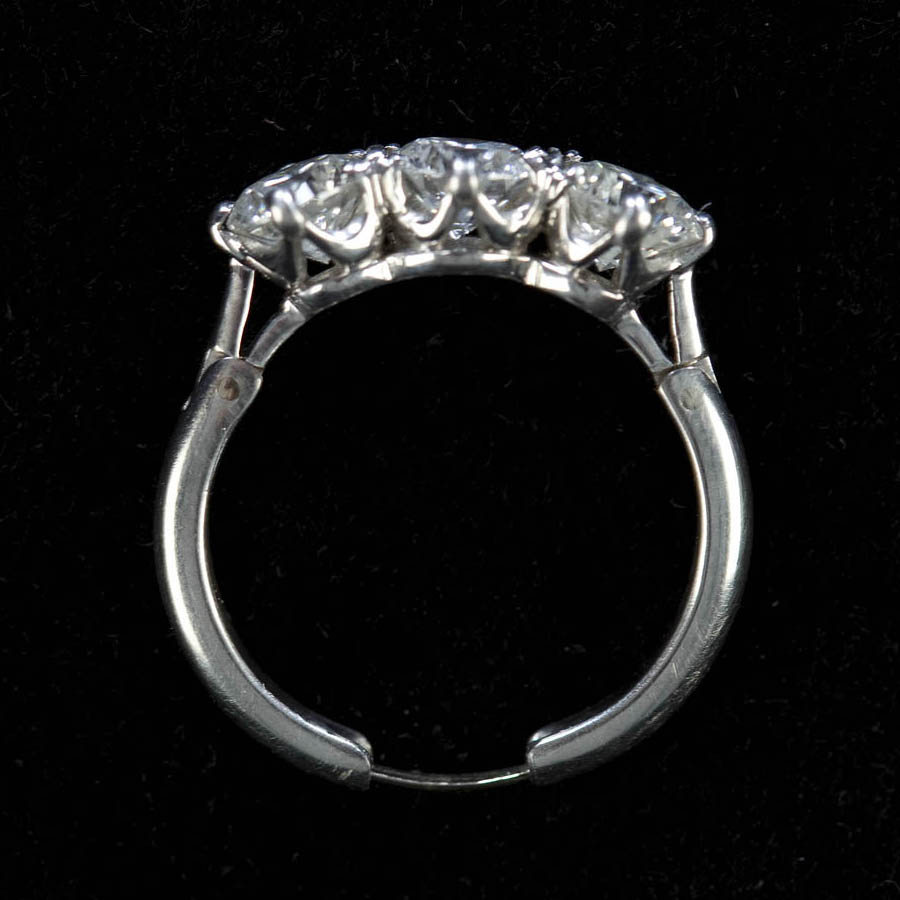 cut white set invisibly halo rings gold cluster products shank split diamond kaplan engagement ring arthur princess